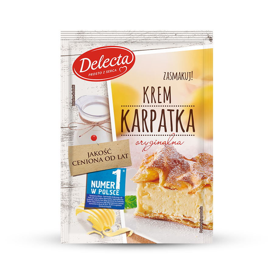 delecta baking products cake filling toppings creams cake filling of karpatka flavour