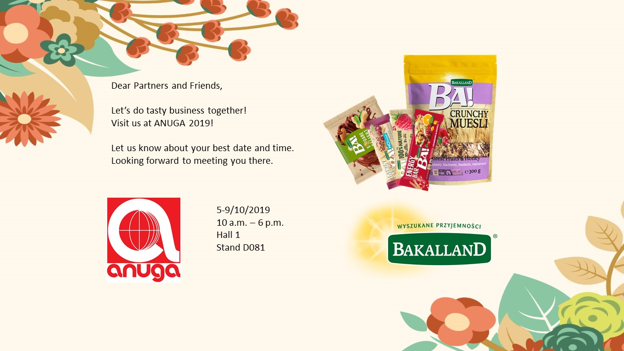 Meet us at Anuga 2019